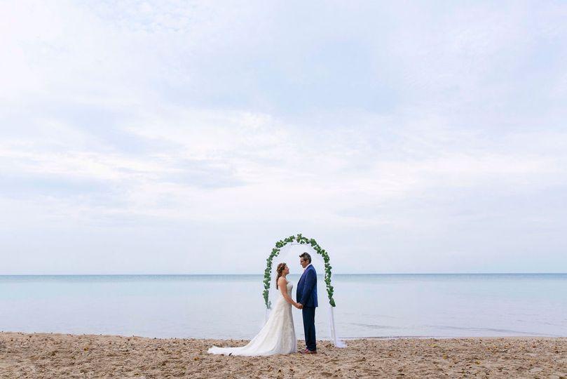 Chicago North Shore Beach Wedd