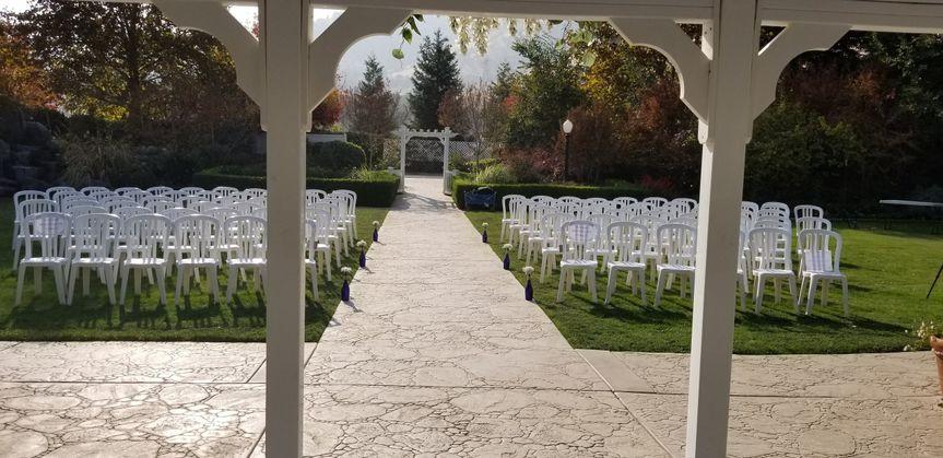 Wonder Valley ceremony setup