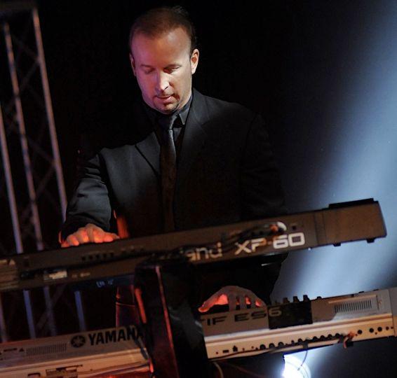 Musical director on the keys