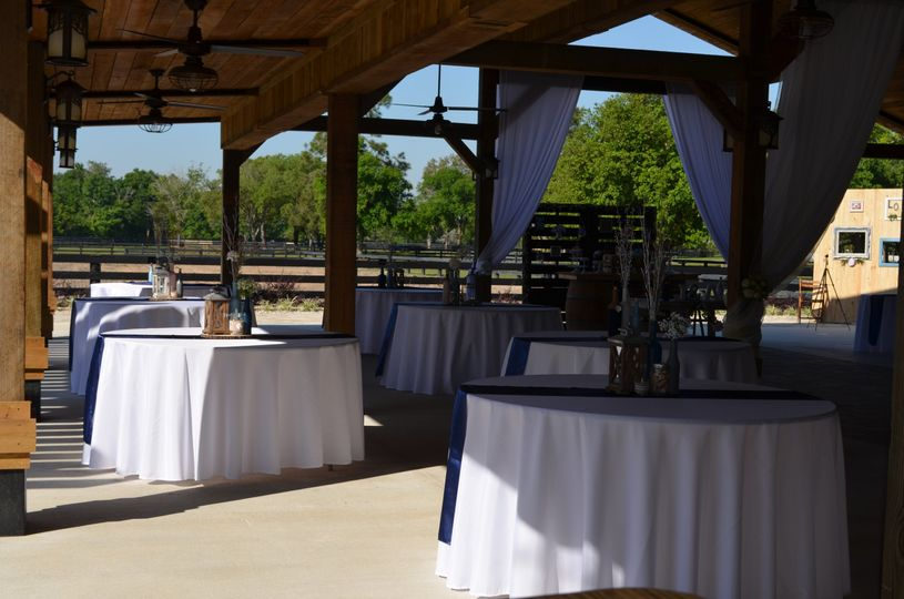 Tables in the pavillion