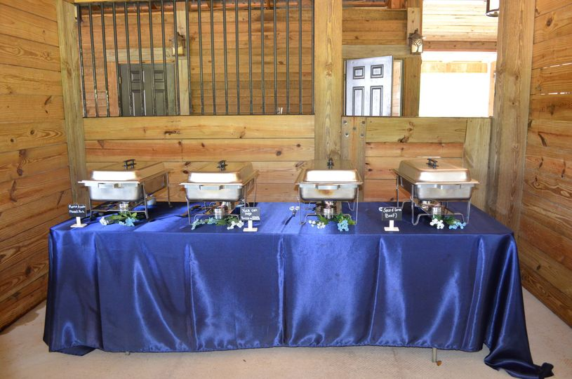 One of four food stations