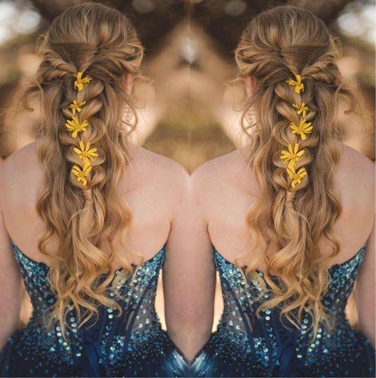 Floral hair style