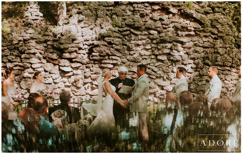 Ceremony by the walls