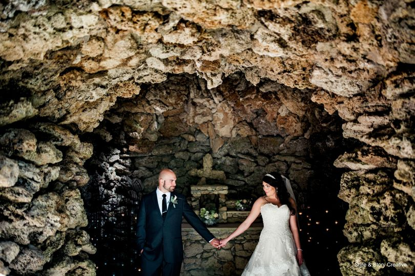 Couple in a cave