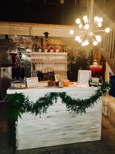 Our white rustic bar