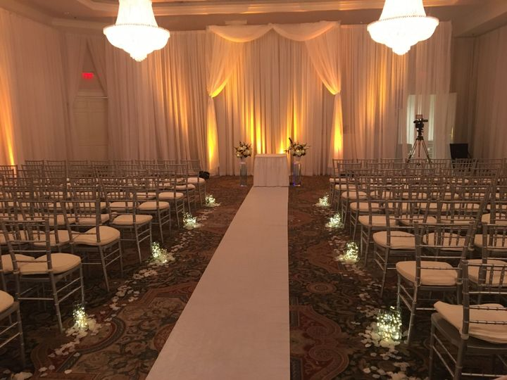 Yellow ceremony lighting