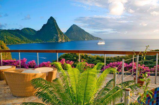 Jade Mountain in St. Lucia........ultra romance!