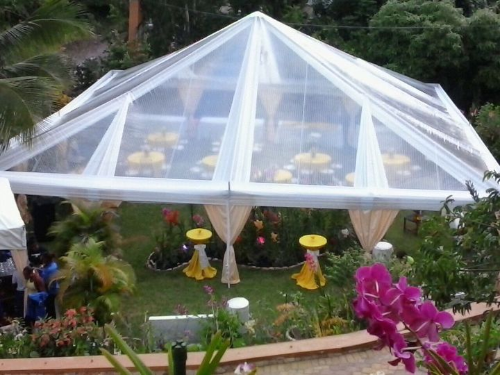 tent with draping