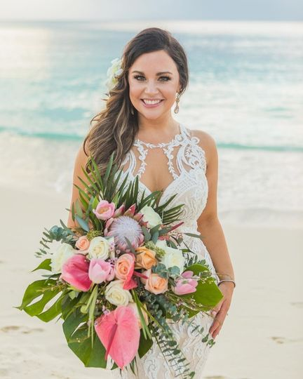 Seven mile beach wedding
