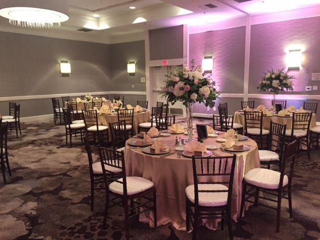 Grand ballroom with chiavari chairs