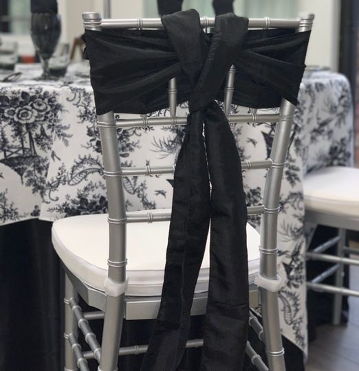 Black Crush Chair Sash