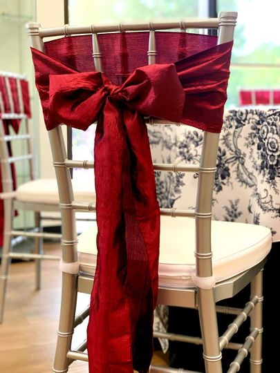 Deep Red Chair Sash