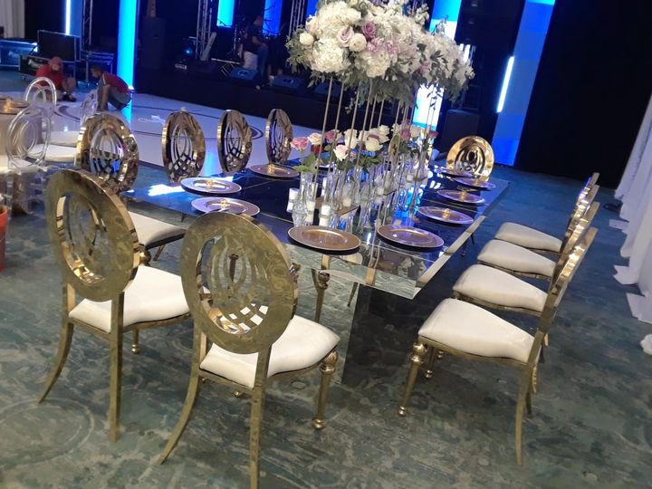 Diana Silver Chairs & Sabrina