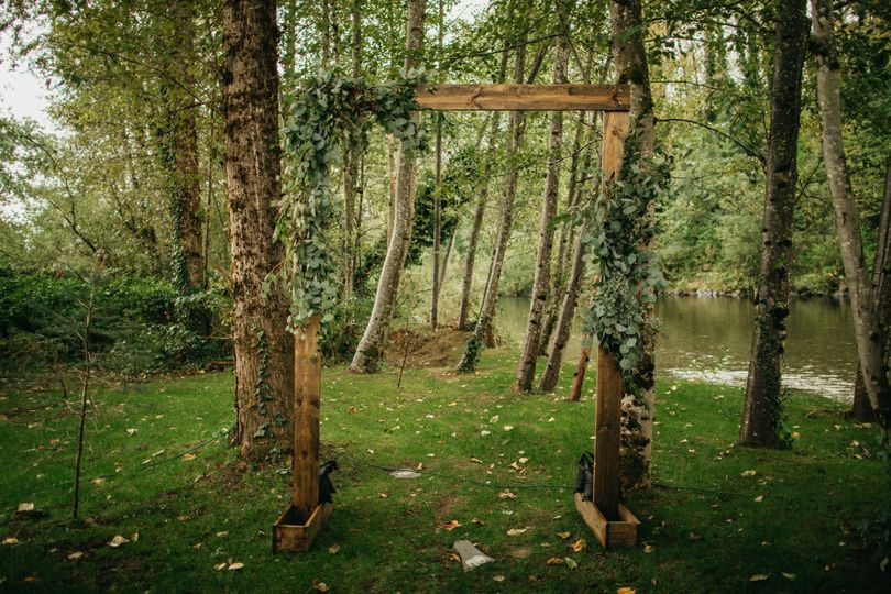 Natural arbor by the river