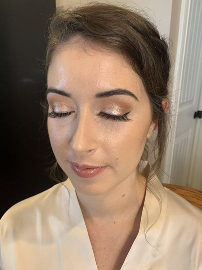 Airbrush on Bridesmaid