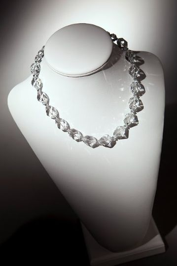 Elizabeth Necklace  Faceted Crystal Quartz with bicone crystal accents Bicones available in over 125...