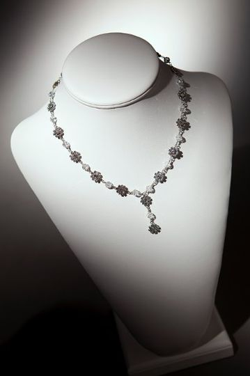 Hailey Necklace  Crystal round beads available in 100 colors