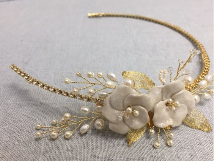 Tmx Gold And Pearl Hairpiece Faye Daniel Designs 51 37137 157842611648580 Bel Air, MD wedding jewelry