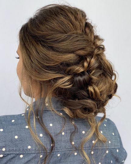 Side shot of braids