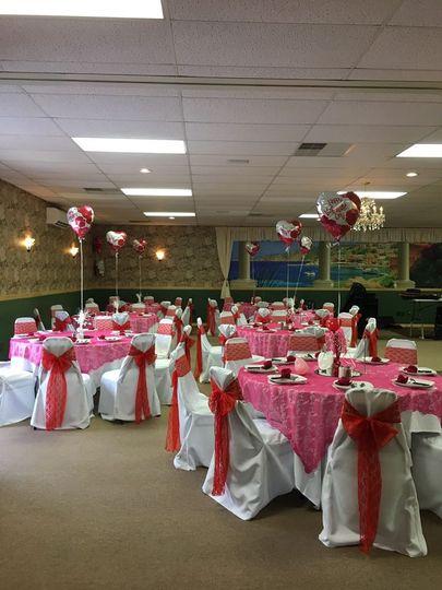 Valentine's Day setup