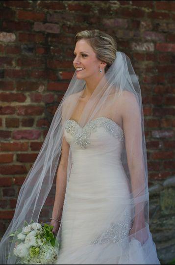 Bride in her full attire