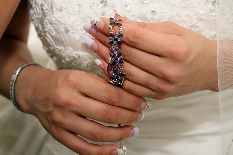 Intricate bridal jewelry