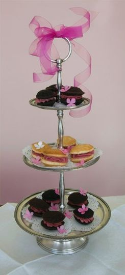 A beautiful tiered tower of Whoopies!
