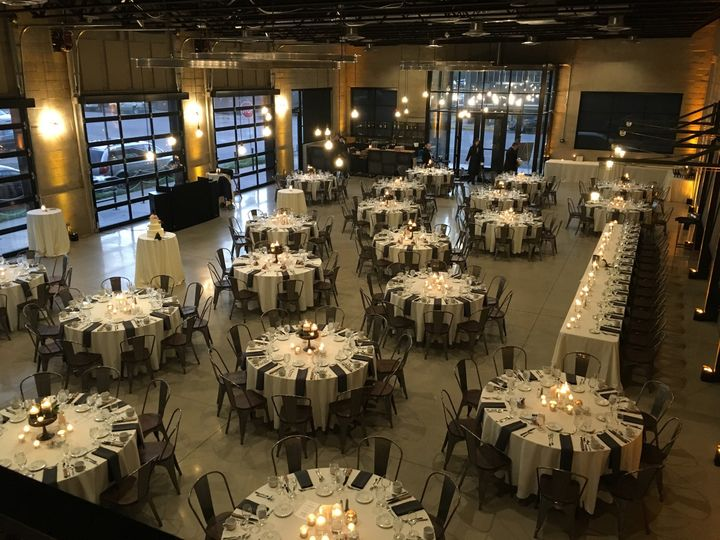 Banquet style table set-up