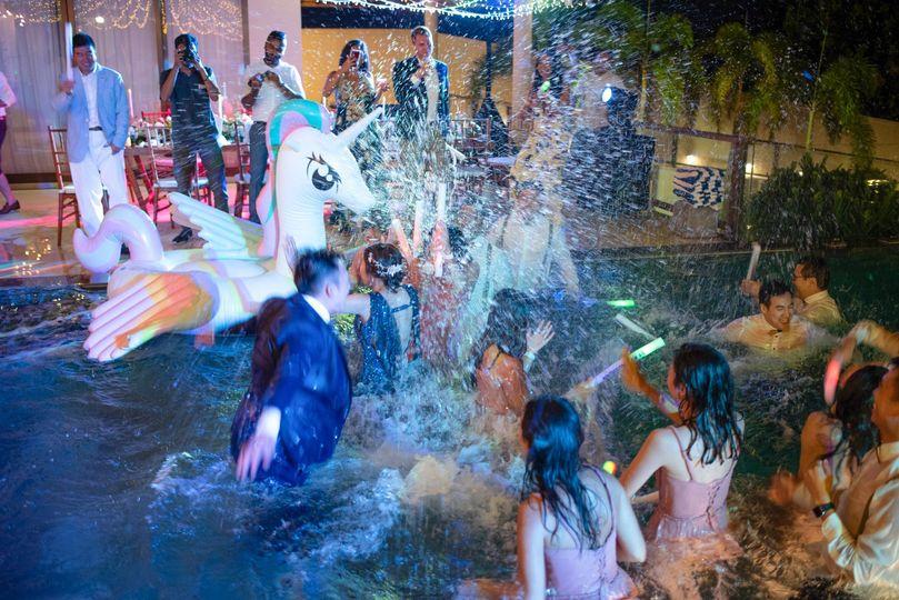 Night Wedding Pool Party 3