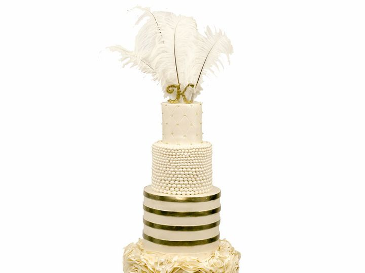 Tmx 1418925050235 Great Gatsby Themed Wedding Cake Huntingdon Valley, PA wedding cake