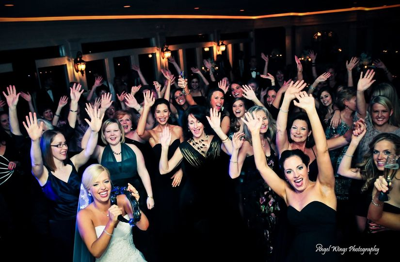 Wedding crowd