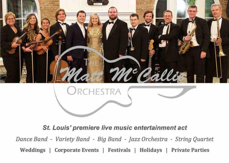 d0d209d5d1652223 St Louis Wedding Music The Matt McCallie Orchestra