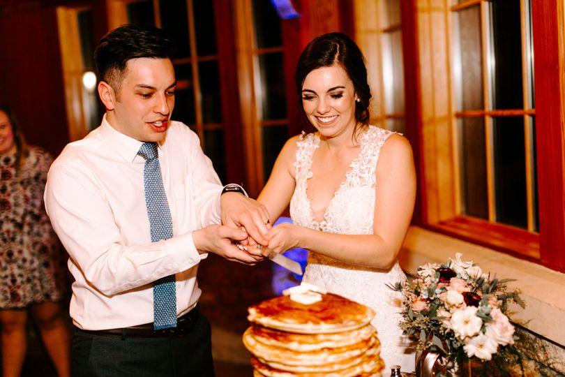 Cutting the Cake (Pancakes, actually)