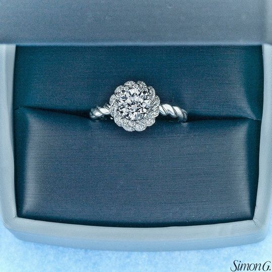 An eye-catching engagement ring