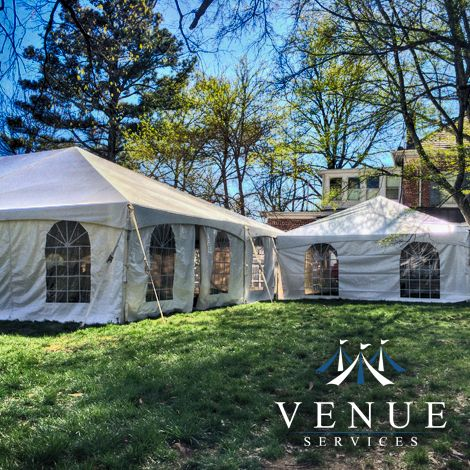 Wedding Tent in the Back Yard