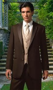 Brown Parisian by Jean Yves- two button , notch lapel, super 100's fabric