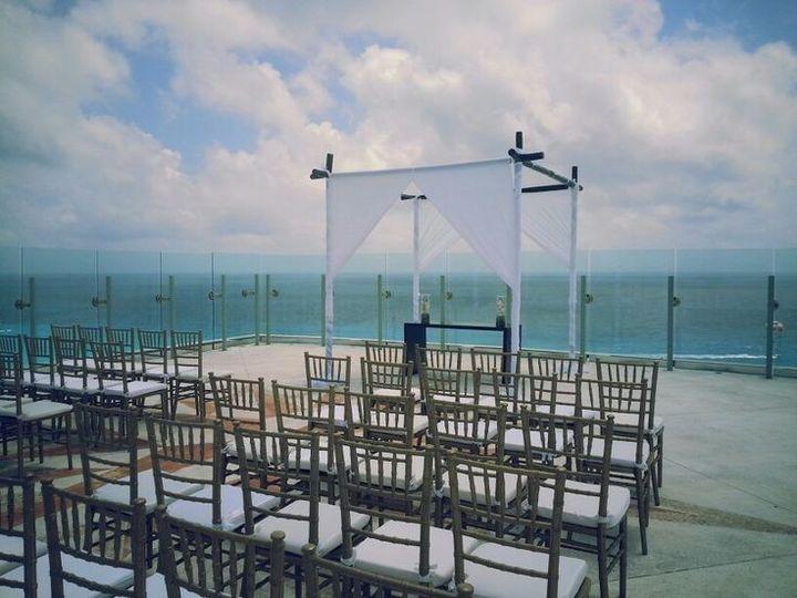 Sun palace rooftop wedding venue, Cancun