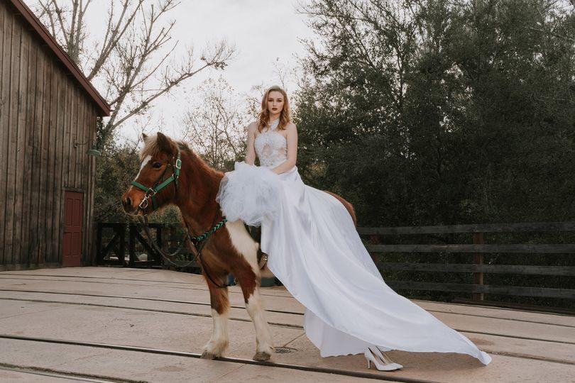 Wedding gown showcase