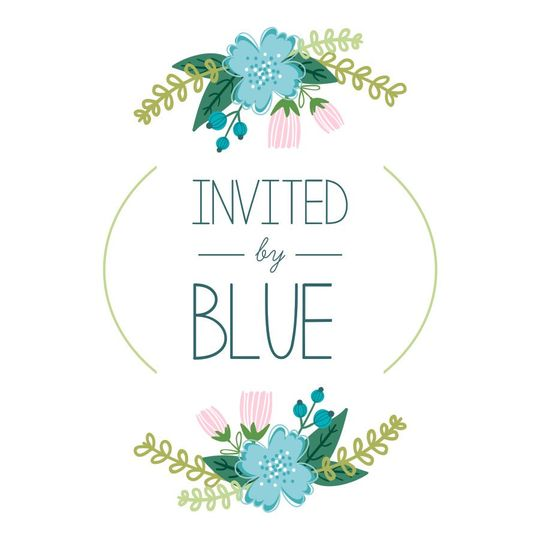 invited by blue cards 3x3