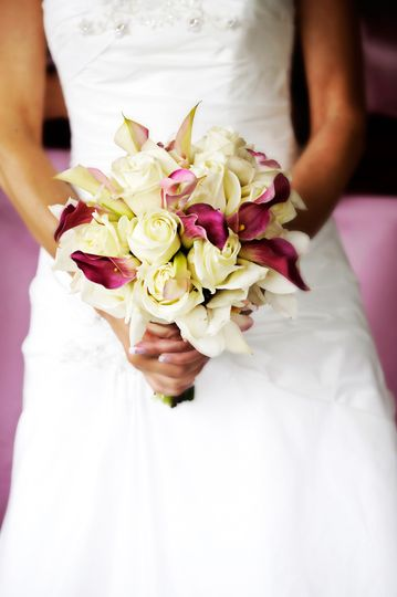 Bride holding a bouquet