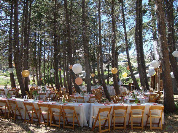 Shaded reception area