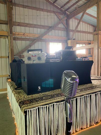 DJ booth elvis microphone