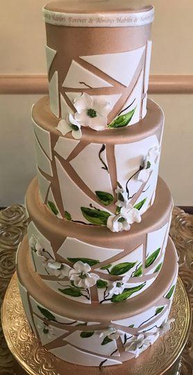 Unique modern wedding cake
