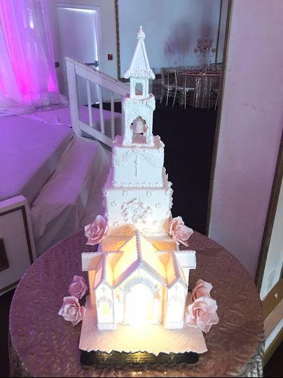 3D church wedding cake