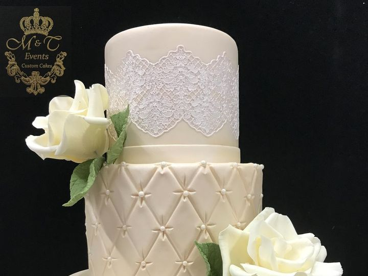 Tmx 1516480040 B25aebe3584ddb01 1516480038 53eea15f773ddc90 1516480037047 11 Pretty In Lace Woodbridge, District Of Columbia wedding cake