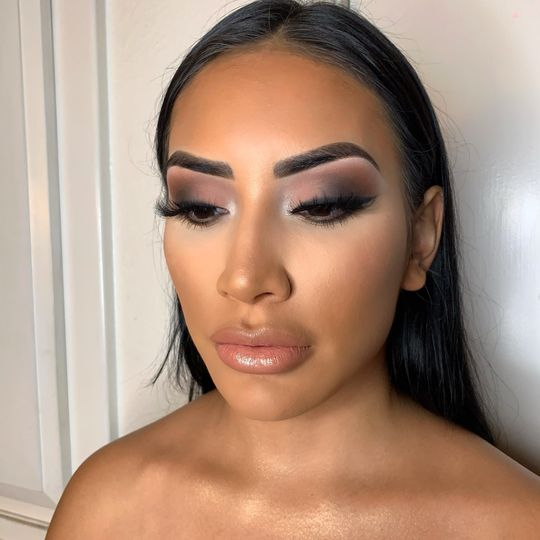 Soft glam look