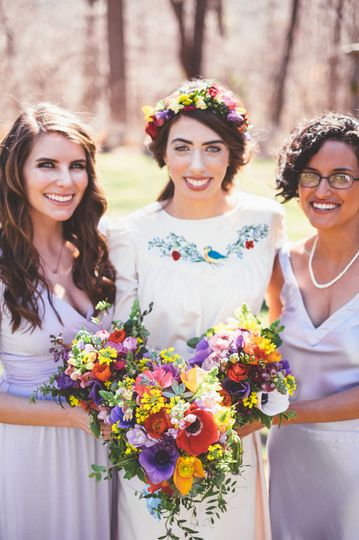 Bouquets and headband