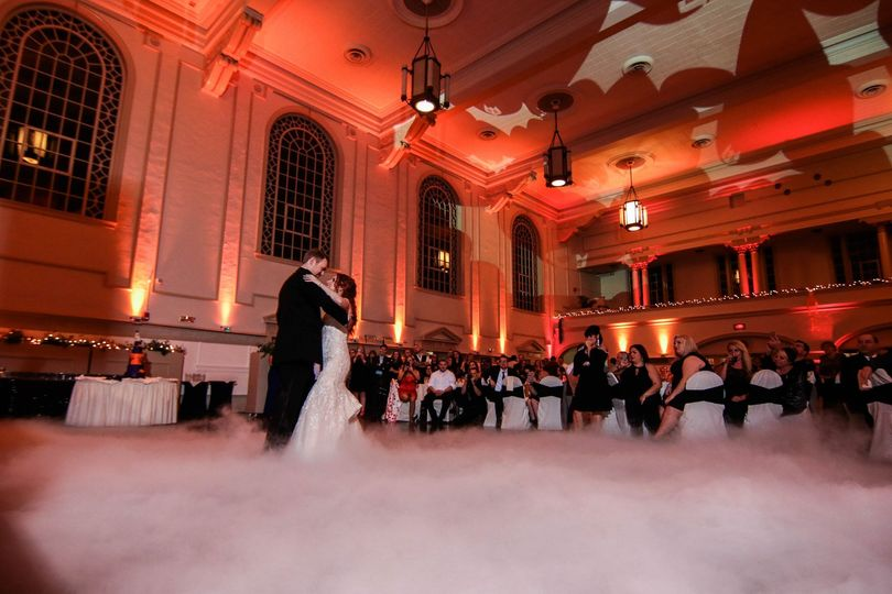 Dry Ice for the first dance