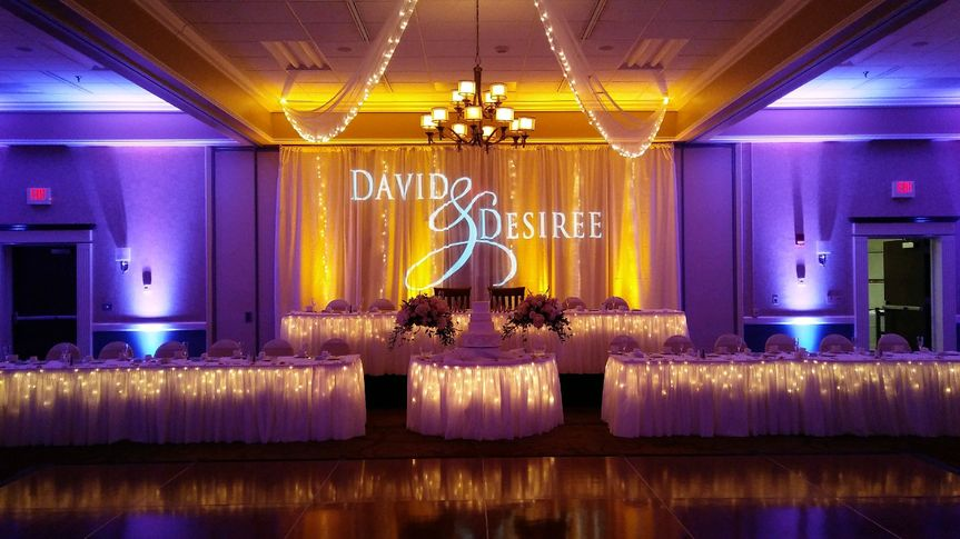Uplighting with monogram