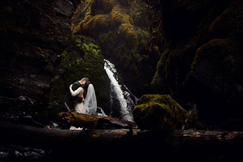 Girdwood Virgin Falls wedding